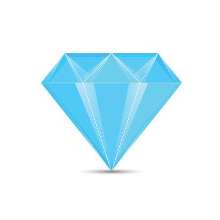 Diamond in blue illustration