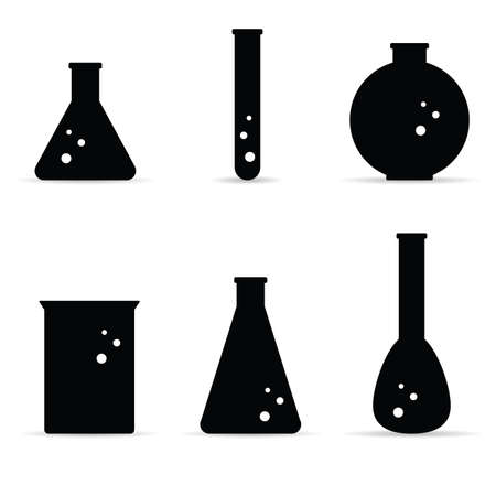 chemical black icon vector on white background Stock Illustratie