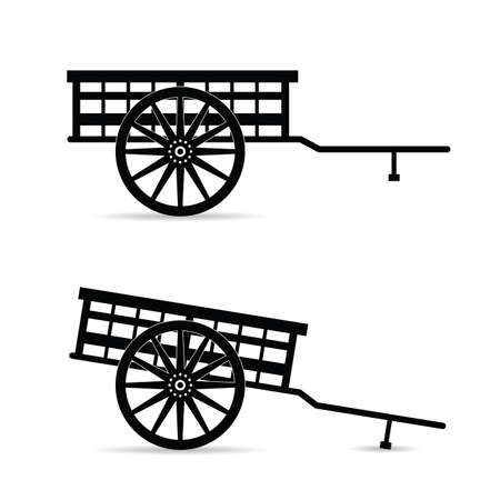 horse carriage vector illustration on white background