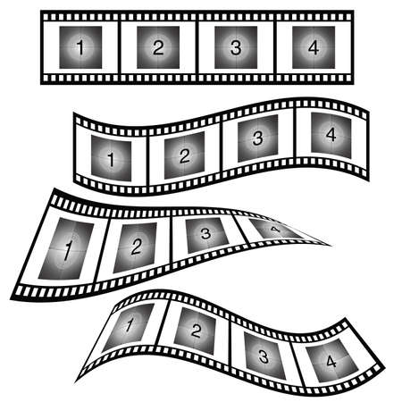 Film strip with number vector illustration on white background.