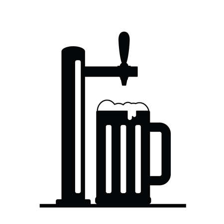 tap bear illustration in black color