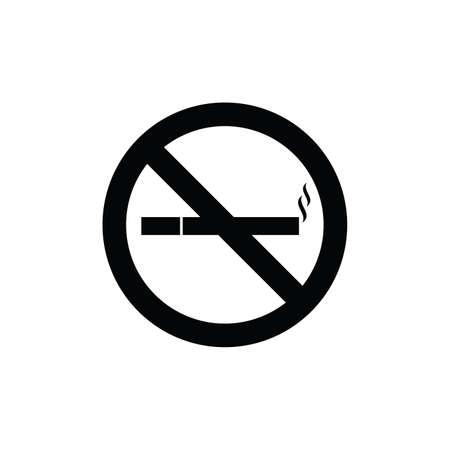 no smoke sign black and white vector