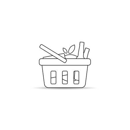 shopping basket line art illustration Illusztráció