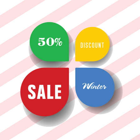 sale icon vector illustration in colorful