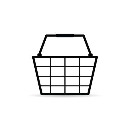 shopping basket icon art illustration on white background Standard-Bild - 127522844