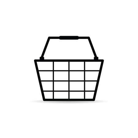 shopping basket icon art illustration on white background