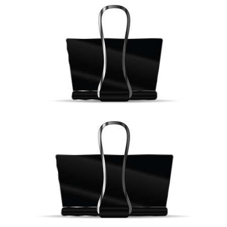 paper clip set illustration in black color