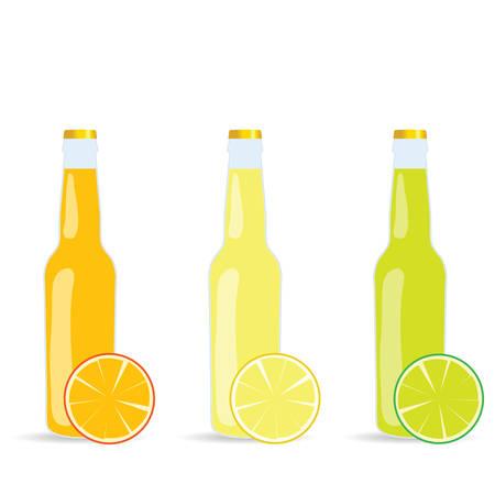 fruite juice in a bottle vector illustration on white Illusztráció
