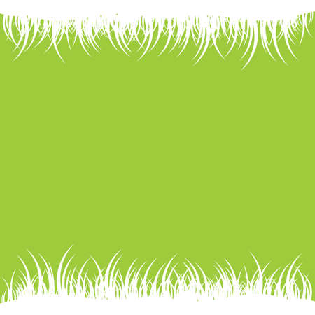 spring background with white grass vector illustration