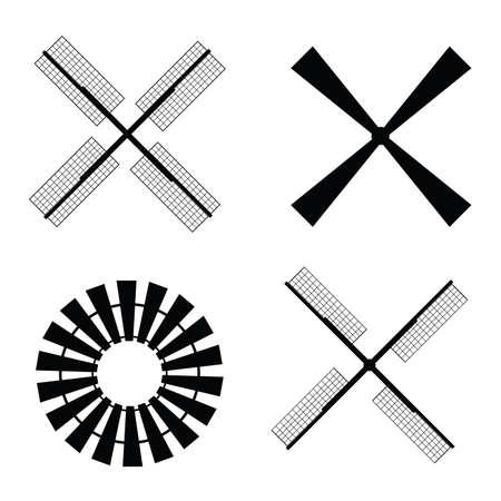 windmill turbine propeller art vector Illusztráció