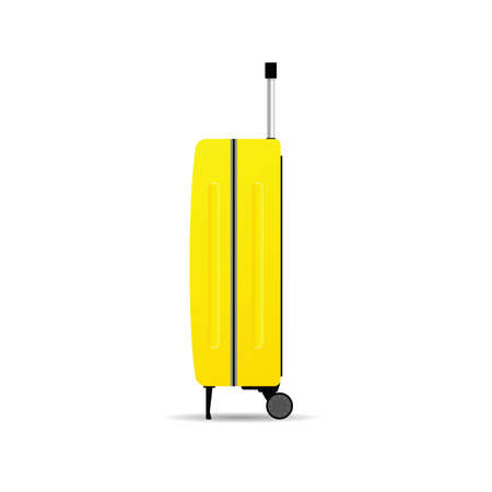 travel bag in the yellow color vector on white