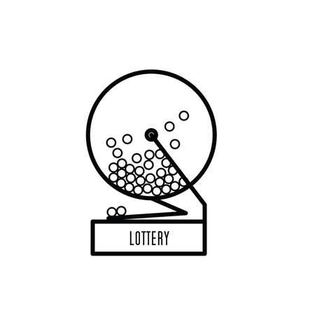 lottery icon vector illustration Illusztráció