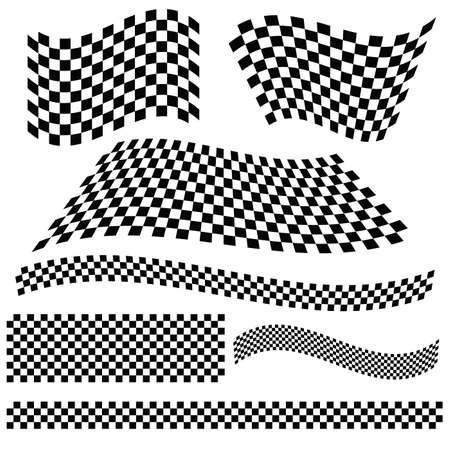 racing flag vector art illustration Illustration