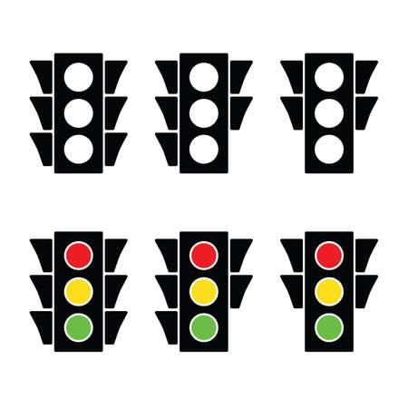 Traffic Lights Icon set vector illustration Иллюстрация