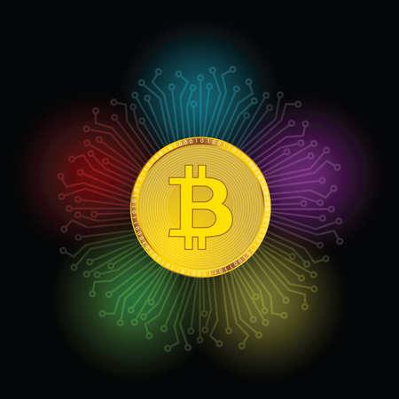 Cryptocurrency money illustration vector Illusztráció