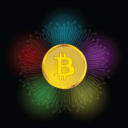Cryptocurrency money illustration vector Illustration