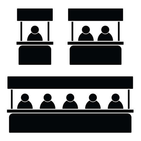 people icon on work illustration Иллюстрация