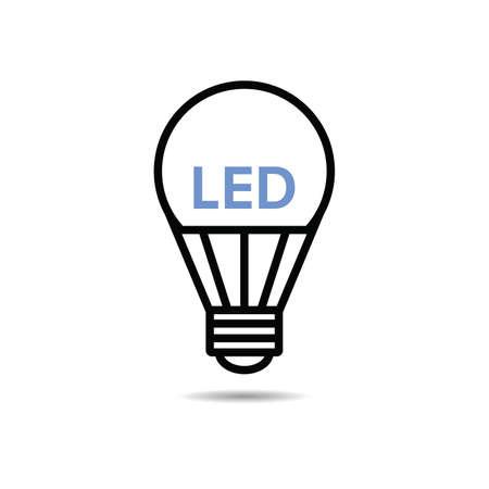 Light Bulb led icon vector illustration
