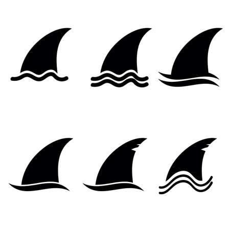 shark fin icon vector in black color Иллюстрация