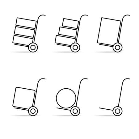 hand trolley icon vector on white background