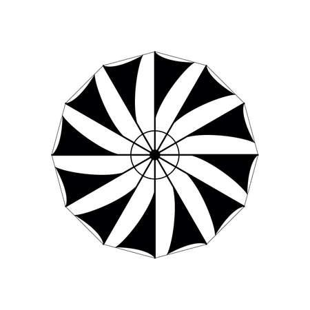 old greek windmill wing vector on white Illusztráció