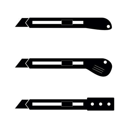 scalpel construction tool icon in black color