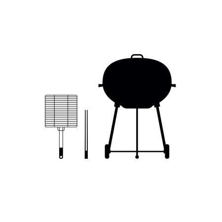 barbecue vector set icon, grill concept silhouette