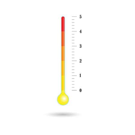 temperature icon in color vector illusration on white
