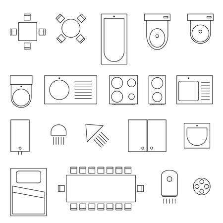 icon and symbol for home and work space on white