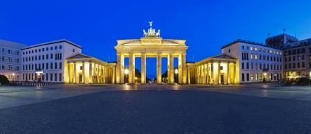 brandenburg: panorama brandenburg gate in berlin, germany, at night Stock Photo