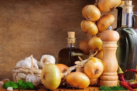 kitchen spanish: Mediterranean seasoning and traditional food ingredients