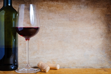 wine background: Still life composition with red wine Stock Photo