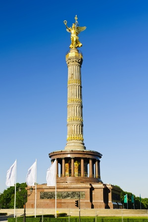 victory column in berlin, germany with blue sky photo