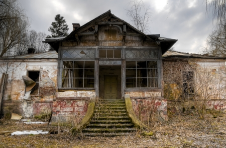 ruined: old haunted house in transylvania