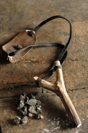 old wooden slingshot