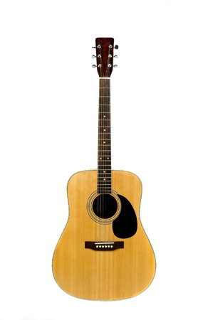 acoustic guitar: classic acoustic guitar Stock Photo
