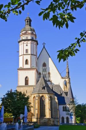 thomas: Thomaskirche (Church) in Leipzig on a beautiful sunny day