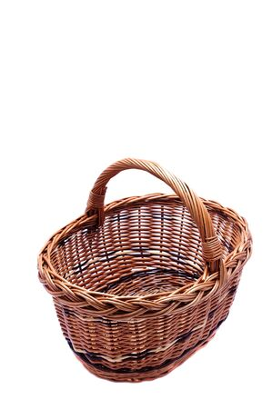 empty basket isolated on a white background Stock Photo - 14653327