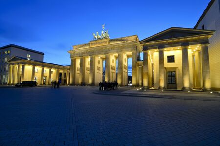 brandenburger tor in berlin, germany, at night Stock Photo - 14654106