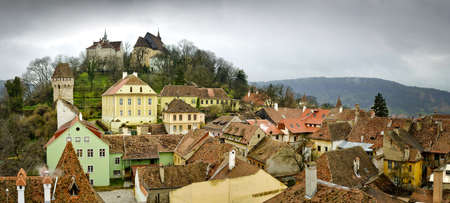 Panorama Sighisoara in Transylvania, Romania photo