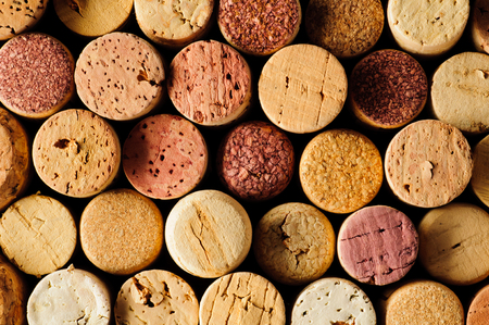 background texture with different wine corks photo