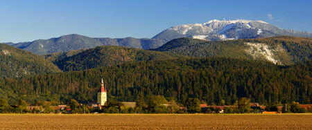 cristian: cristian (neustadt) village and poiana brasov in transylvania, romania Stock Photo