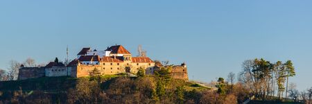 brasov: panorama with the fortress of Brasov in Transylvania, Romania
