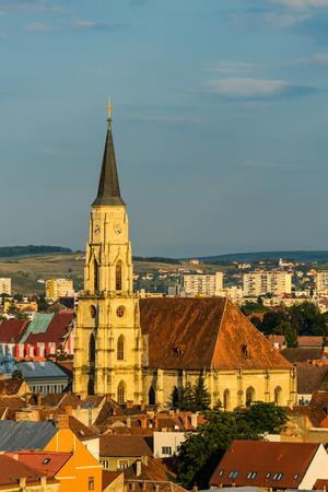 cluj: Saint Michael catholic Cathedral in Cluj, Transylvania, Romania