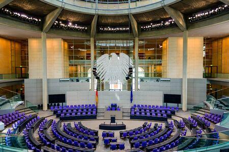 Interno dell'edificio del Reichstag a Berlino, Germany