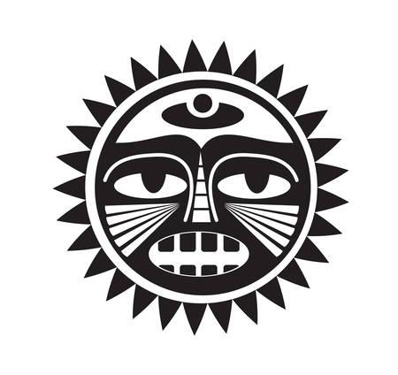 Beautiful Polynesian style tattoo. Clip-art, Illustration. Vector