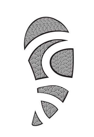 Maory Style Tattoo . Clip-art, Illustration.