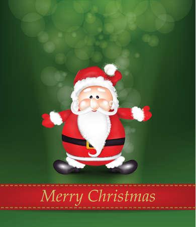 white bacjground: Christmas Shiny Background with Santa Claus. Clip-art, Illustration. Illustration