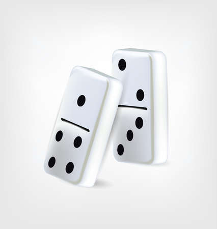 domino effect: Two Domino Pieces . Clip-art, Illustration.