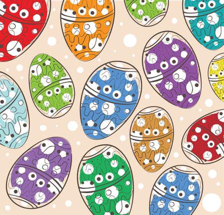 Illustration of Easter Eggs Pattern . Clip-art, Illustration.